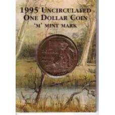 1995 $1 Matilda M Mint Mark