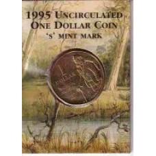 1995 $1 Matilda S Mint Mark