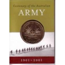 2001 $1 Army C Mint Mark