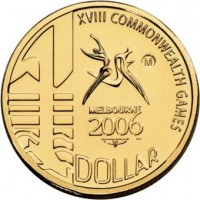 2006 $1 Commonwealth Games M Mint Mark