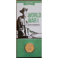 2014 $1 100 Years of ANZAC M Counter Stamp