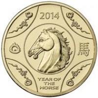 2014 $1 Lunar Horse