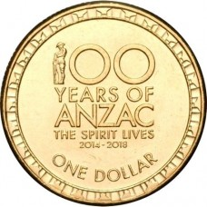 2016 $1 100 Years Of ANZAC