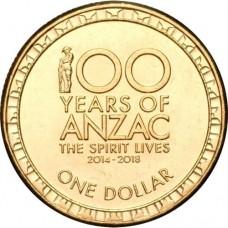 2015 $1 100 Years of ANZAC