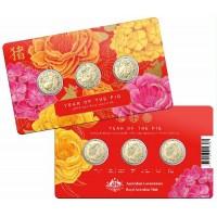 2019 $1 Lunar Pig 3 coin pack
