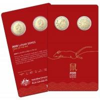 2020 $1 Lunar Rat 2 Coin set