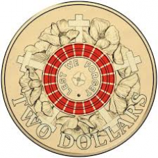 2015 $2 ANZAC Day 'Poppy' Counter Stamp
