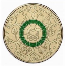 2016 $2 Olympics Green