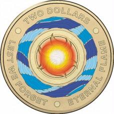 2018 $2 ANZAC Day 'C' Mint Mark