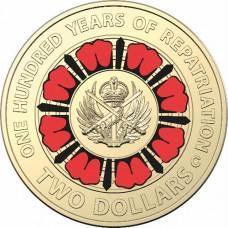 2019 $2 Repatriation 'C' Mint mark