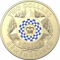2019 $2 Police Remembrance Unc