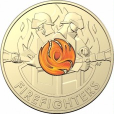2020 $2 Fire Fighters Remembrance Day Circulation Coin on RAM Card