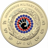 2021 $1 Indigenous Service  C mint mark