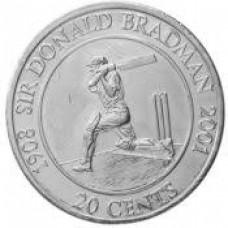 2001 20c Sir Donald Bradman