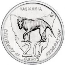 2001 20c Tasmanina