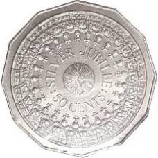 1977 50c Silver Jubilee