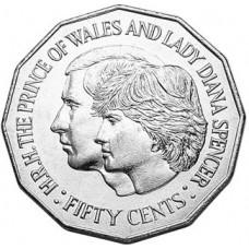 1981 50c Royal Wedding