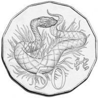 2013 50c Lunar Snake Tetra-Decagon