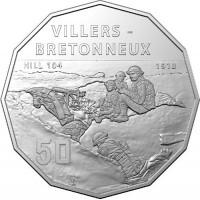 2018 50c Villers-Bretonneux