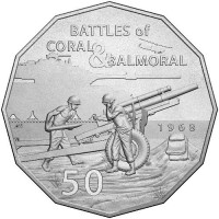 2018 50c Battle of Coral and Balmoral
