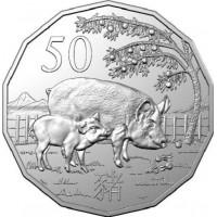 2019 50c Lunar Pig