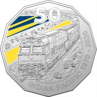 2020 50c Indian Pacific