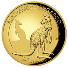 2016 $100 Kangaroo Gold High Relief