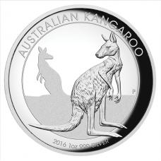 2016 $1 Kanagroo Silver High Relief