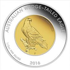 2016 $50 Wedgetail Eagle Bi-metal Proof