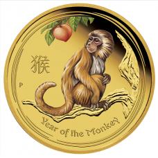 2016 $100 Monkey Gold Coloured