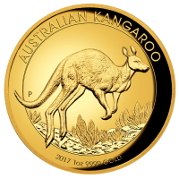 2017 $100 Kangaroo Gold High Relief Proof