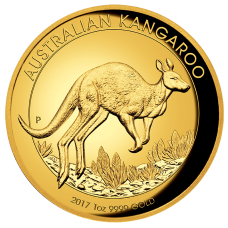 2017 $100 Kangaroo Gold High Relief Proof