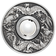2017 $1 Dragon and Pearl Silver Antique Proof