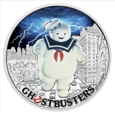 2017 $1 Ghost Busters - Stay Puft Silver Coin