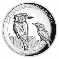 2017 $1 Kookaburra High Relief Silver Proof