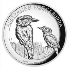 2017 $1 Kookaburra High Relief Silver Proof