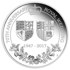 2017 $1 70th Royal Wedding Anniversary Silver Proof