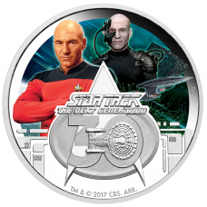 2017 $1 Star Trek 30th Anniversary Silver Proof