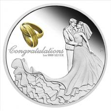 2017 $1 Wedding Silver Proof