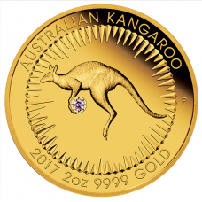 2017 $200 Kangaroo Gold Pink Diamond Edition