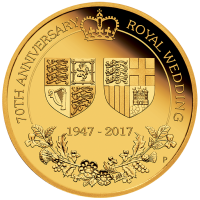 2017 $25 70th Royal Wedding Anniversary Gold Proof