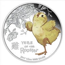 2017 50c Baby Rooster Silver Proof