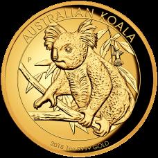 2018 $100 Koala Gold High Relief Proof