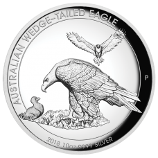 2018 $10 Wedgetailed Eagle High Relief Silver Proof