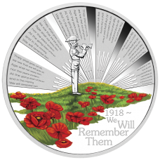 2018 $1 ANZAC Spirit - We Will Remember Them Silver Proof