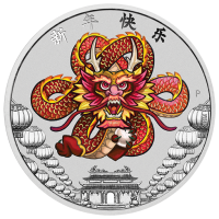 2018 $1 Chinese New Year Dragon Silver Coin