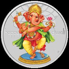 2018 $1 Diwali Silver Coin