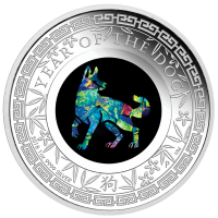 2018 $1 Dog Opal Silver Proof