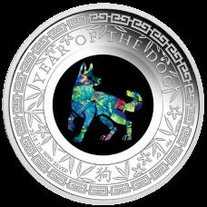 2018 $1 Dog Opal Silver Proof