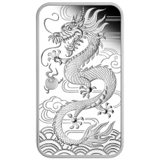 2018 $1 Dragon Rectangle Silver Proof